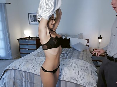 Sexy Honey Blossom gets fucked by a stiff penis while she moans