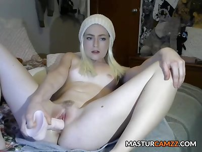 Sweet Blonde Teen Squirting Masturbration