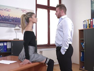 Light haired chick Ciara Riviera is naughty sob sister who loves some steamy fuck